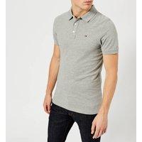 Tommy Jeans Men's Original Fine Pique Polo Shirt - Light Grey Heather - L