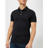 Tommy Jeans Mens Original Fine Pique Polo Shirt - Tommy Black - XXL
