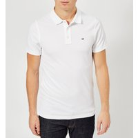 Tommy Jeans Mens Original Fine Pique Polo Shirt - Classic White - M