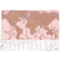 Travel Rose Gold Scratch Map - Travel Gifts