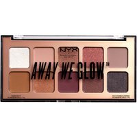 Paleta de sombras de ojos Away We Glow Shadow Palette NYX Professional Makeup 10 g - Lovebeam