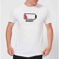 Daddy Batteries Low Men's T-Shirt - White - S - White