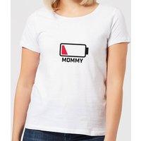 Mommy Batteries Low Women's T-Shirt - White - M - White