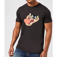 Looney Tunes Tasmanian Devil Face Men's T-Shirt - Black - 5XL