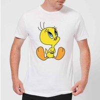 Looney Tunes Tweety Sitting Mens T-Shirt - White - XXL - White