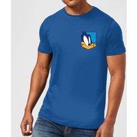 Looney Tunes Roadrunner Face Faux Pocket Men's T-Shirt - Royal Blue - XXL - royal blue