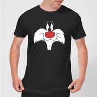 Looney Tunes Sylvester Big Face Men's T-Shirt - Black - M
