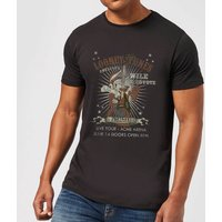 Looney Tunes Wile E Coyote Guitar Arena Tour Men's T-Shirt - Black - XXL - Black - Guitar Gifts