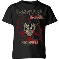 Looney Tunes Tasmanian Devil Monster Rock Kids' T-Shirt - Black - 11-12 Years - Black