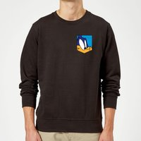 Looney Tunes Roadrunner Face Faux Pocket Sweatshirt - Black - XL