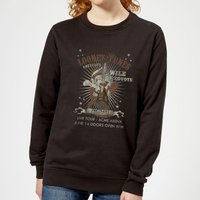 Looney Tunes Wile E Coyote Guitar Arena Tour Women's Sweatshirt - Black - S - Black - Guitar Gifts