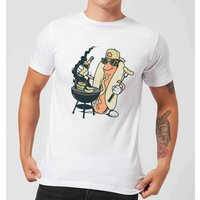 Hot Dog Grilling Men's T-Shirt - White - XL - White