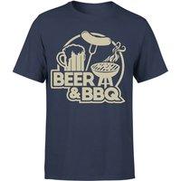 Beer & BBQ Men's T-Shirt - Navy - XL - Navy