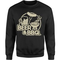 Beer & BBQ Sweatshirt - Black - 5XL - Black - Beer Gifts