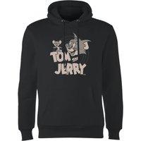 Tom & Jerry Circle Hoodie - Black - L - Black