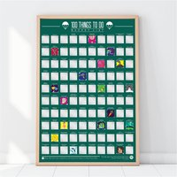 100 Things To Do Bucket List Poster - Poster Gifts