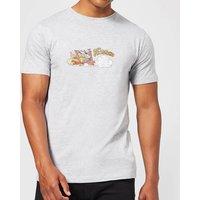 The Flintstones Family Car Distressed Men's T-Shirt - Grey - XXL - Grey