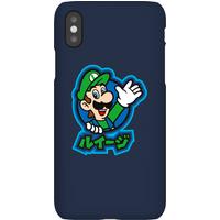 Nintendo Super Mario Luigi Kanji Phone Case - iPhone XR - Snap Case - Matte