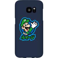 Nintendo Super Mario Luigi Kanji Phone Case - Samsung S7 Edge - Snap Case - Matte