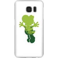 Nintendo Super Mario Yoshi Silhouette Phone Case - Samsung S6 - Snap Case - Matte