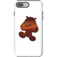 Nintendo Super Mario Goomba Silhouette Phone Case - iPhone 7 Plus - Tough Case - Matte