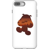 Nintendo Super Mario Goomba Silhouette Phone Case - iPhone 8 Plus - Tough Case - Matte