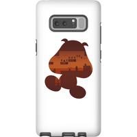 Nintendo Super Mario Goomba Silhouette Phone Case - Samsung Note 8 - Tough Case - Matte