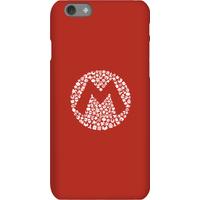 Nintendo Super Mario Mario Items Logo Phone Case - iPhone 6S - Snap Case - Matte