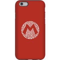 Nintendo Super Mario Mario Items Logo Phone Case - iPhone 6 - Tough Case - Matte
