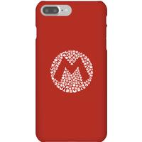Nintendo Super Mario Mario Items Logo Phone Case - iPhone 7 Plus - Snap Case - Gloss
