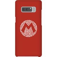 Nintendo Super Mario Mario Items Logo Phone Case - Samsung Note 8 - Snap Case - Gloss