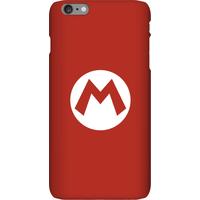 Nintendo Super Mario Mario Logo Phone Case - iPhone 6 Plus - Snap Case - Matte