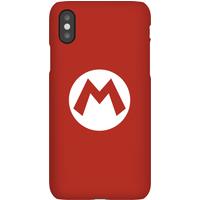 Nintendo Super Mario Mario Logo Phone Case - iPhone X - Snap Case - Matte