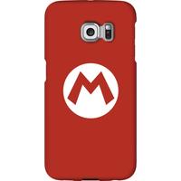 Nintendo Super Mario Mario Logo Phone Case - Samsung S6 Edge - Snap Case - Matte