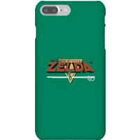 Nintendo The Legend Of Zelda Retro Logo Phone Case - iPhone 7 Plus - Snap Case - Matte