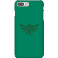 Nintendo The Legend Of Zelda Tribal Hyrule Crest Phone Case - iPhone 7 Plus - Snap Case - Matte