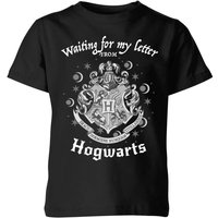 T-Shirt Harry Potter Waiting For My Letter From Hogwarts - Nero - Bambini - 7-8 Anni - Nero