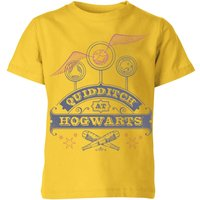T-Shirt Harry Potter Quidditch At Hogwarts - Yellow - Bambini - 11-12 Anni - Giallo