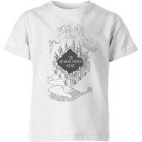 T-Shirt Harry Potter The Marauder's Map - Bianco - Bambini - 5-6 Anni - Bianco
