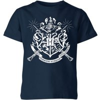 T-Shirt Harry Potter Hogwarts House Crest - Navy - Bambini - 9-10 Anni - Blu Navy