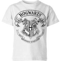 T-Shirt Harry Potter Hogwarts Crest - Bianco - Bambini - 5-6 Anni - Bianco