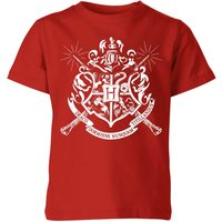T-Shirt Harry Potter Hogwarts House Crest - Rosso - Bambini - 7-8 Anni - Rosso