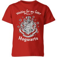 T-Shirt Harry Potter Waiting For My Letter From Hogwarts - Rosso - Bambini - 9-10 Anni - Rosso