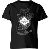 T-Shirt Harry Potter The Marauder's Map - Nero - Bambini - 5-6 Anni - Nero