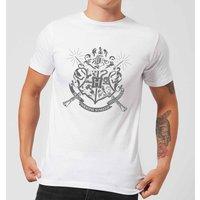 Harry Potter Hogwarts House Crest Men's T-Shirt - White - 5XL - White