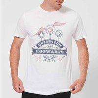 Harry Potter Quidditch At Hogwarts Men's T-Shirt - White - 4XL - White