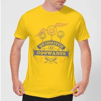 Harry Potter Quidditch At Hogwarts Mens T-Shirt - Yellow - L - Yellow