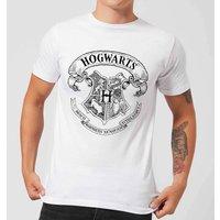 Harry Potter Hogwarts Crest Men's T-Shirt - White - XL - White