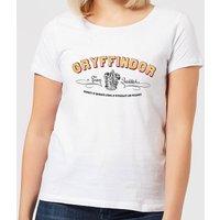 Harry Potter Gryffindor Team Quidditch Women's T-Shirt - White - XL - White