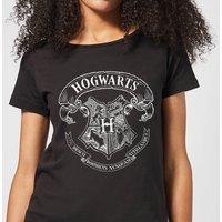 Harry Potter Hogwarts Crest Women's T-Shirt - Black - S
